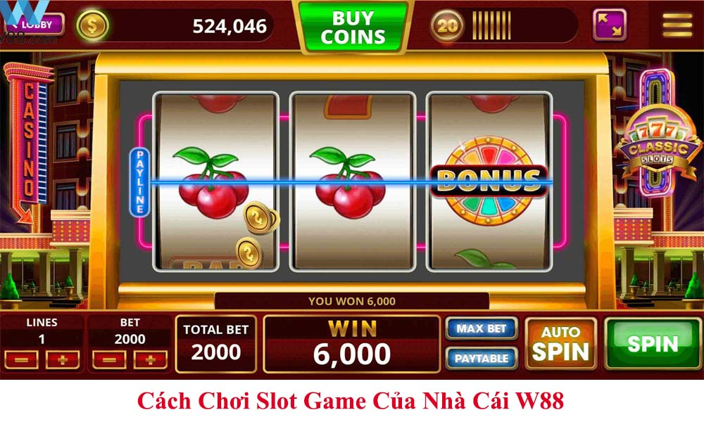 Cách Chơi Slot Game Của Nhà Cái W88