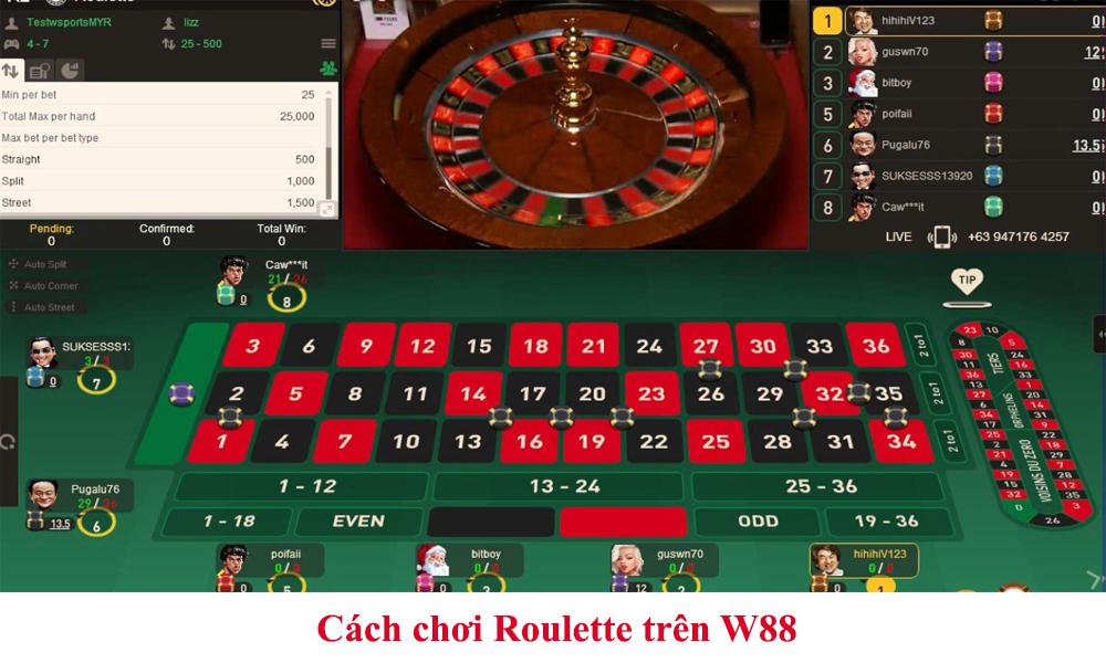 Cách chơi Roulette trên W88