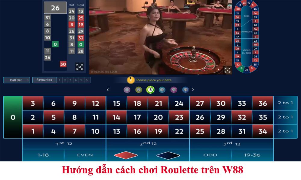 Hướng dẫn cách chơi Roulette trên W88