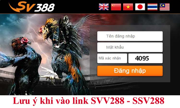 Lưu ý khi vào link SVV288 - SSV288